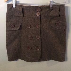 Dresses & Skirts - Gray wool skirt fully lined